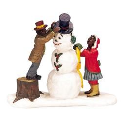 Couple et bonhomme de neige Lemax Caddington