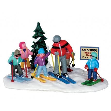 Cours de ski avec les enfants Lemax Vail Village