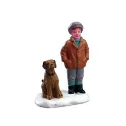 Enfant et son chien Lemax Caddington