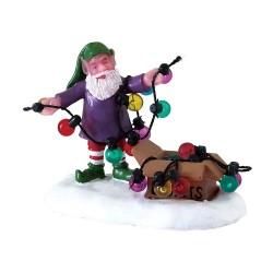 Lutin et guirlandes Lemax Santas Wonderland