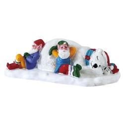 Lutins et ours polaire Lemax Santas Wonderland