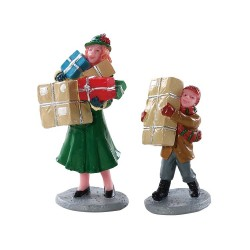 Courses de Noel Lot de 2 Lemax