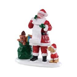 Père Noel liste de cadeaux Lemax Santas Wonderland