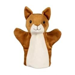 Marionnette à main en tissu écureuil 24 cm