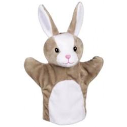 Marionnette à main en tissu lapin 24 cm