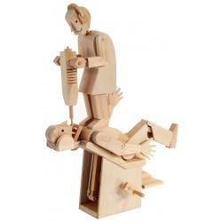 Automate en bois dentiste démoniaque en kit 33 cm