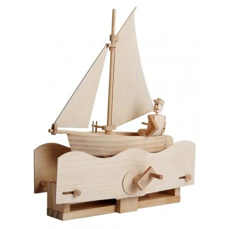 Automate en bois voilier en kit 27 cm