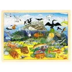 Puzzle cadre enfant en bois océan 96 pièces