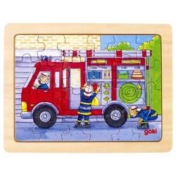 Puzzle enfant en bois pompiers 24 pièces