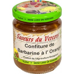 Confiture de barbarine à l'orange Bio 220 g