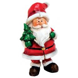 Figurine Père Noël sapin résine 6 cm