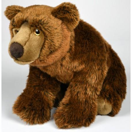 Peluche ours brun 50 cm