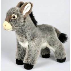 Peluche âne gris 33 cm