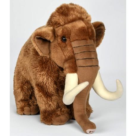 Peluche mammouth marron 38 cm