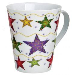 Tasse Noël étoiles porcelaine 30 cl