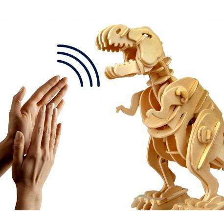 Maquette en bois motorisée T-Rex mobile et sonore