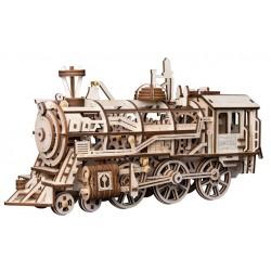 Maquette en bois Locomotive à vapeur animée