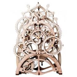 Maquette en bois Horloge animée