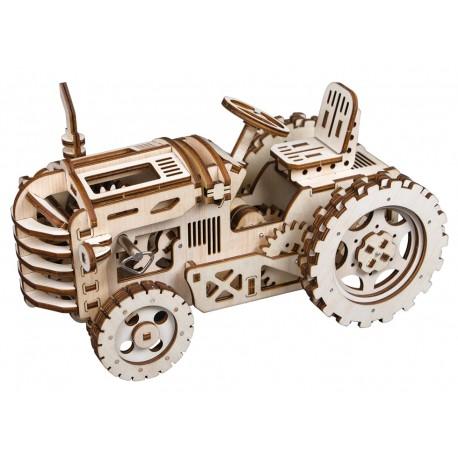 Maquette en bois Tracteur animé