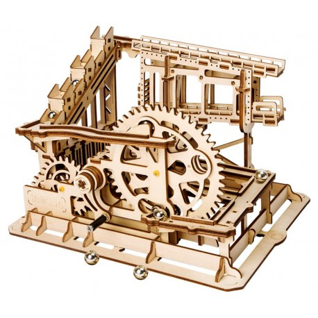 Maquette en bois Circuit de billes animé