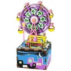 Maquette en bois Grande roue animée musicale