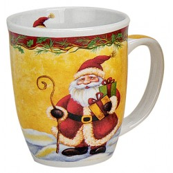 Tasse Père Noël cadeaux porcelaine 30 cl