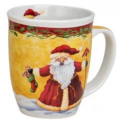 Tasse Père Noël chaussette porcelaine 30 cl