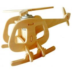 Hélicoptère en bois énergie solaire en kit