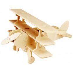 Avion triplan en bois énergie solaire en kit