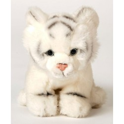 Peluche tigre blanc 23 cm