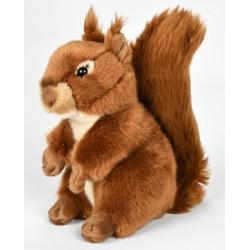 Peluche écureuil roux 23 cm