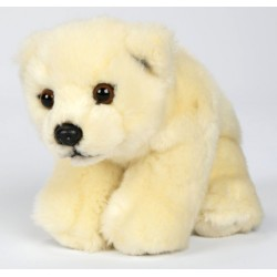 Peluche ours polaire blanc 18 cm