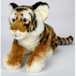 Peluche tigre brun 30 cm