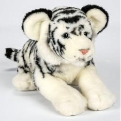 Peluche tigre blanc 30 cm
