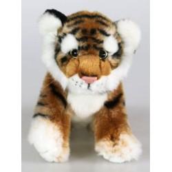 Peluche tigre brun 23 cm