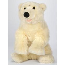 Peluche ours polaire blanc 63 cm