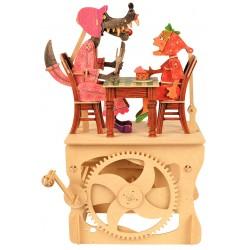 Automate en bois Loup et Petit Chaperon Rouge en kit 40 cm