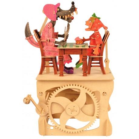 Automates en bois Le Petit Chaperon Rouge 40 cm