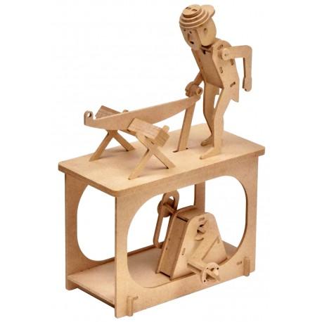 Automate en bois Bucheron en kit 24 cm