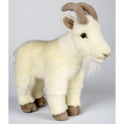 Peluche chèvre blanche 24 cm