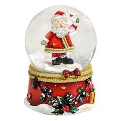 Boule à neige Père Noël lettre en l'air résine 6 cm