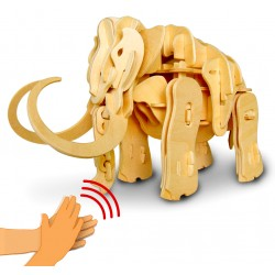 Maquette en bois motorisée Mammouth animé et sonore