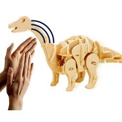 Maquette en bois motorisée Apatosaure animé et sonore