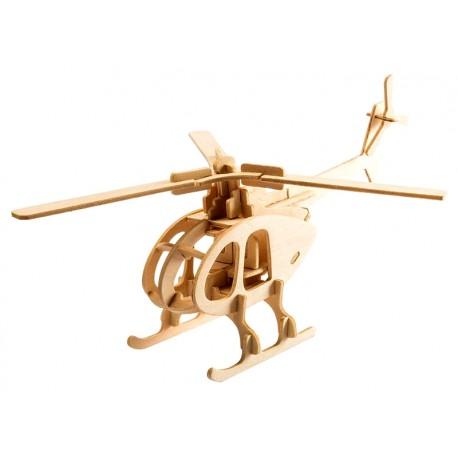 Maquette en bois Hélicoptère