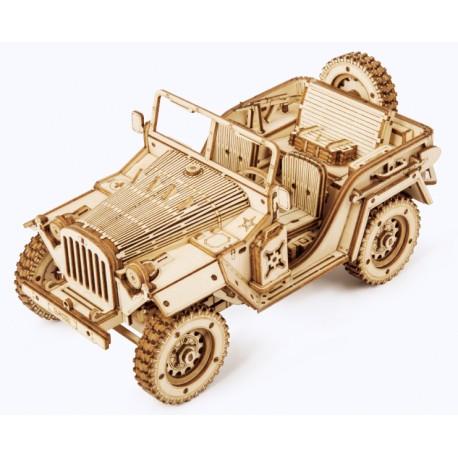 Maquette en bois Voiture Jeep 4x4