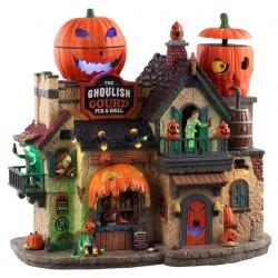 Restaurant Pub lumineux animée sonore Halloween Lemax