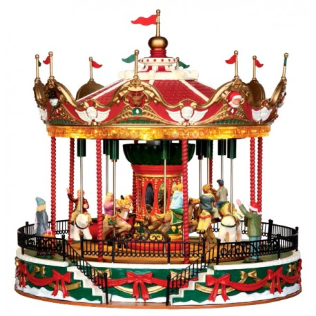 Carrousel Noël lumineux animé et sonore Lemax