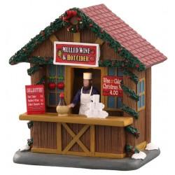 Chalet marché de Noël lumineux Vin chaud Lemax