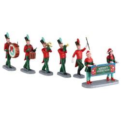 Scène Parade de Noël lot de 6 Lemax