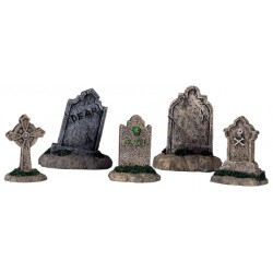 Pierres tombales lot de 5 Halloween Lemax